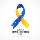 World Down Syndrome Day. Lettering Stock Image