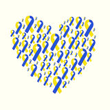 World down syndrome day yellow blue ribbon Stock Image