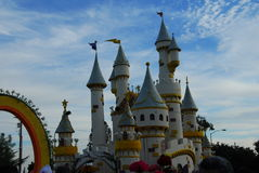 World Of Dreams castle float at the 122nd tourname Stock Photo