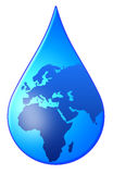 World drop. Taking care of the world's water supplies Stock Images