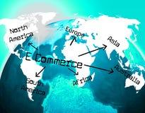 World E Commerce Indicates Ecommerce E-Commerce And Company Royalty Free Stock Photo