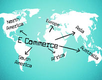 World E Commerce Shows Company Globalize And Selling Stock Image