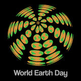 World earth day vector minimal concept Royalty Free Stock Photo