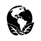World earth ecological enviroment leaves symbol pictogram Stock Photo