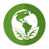 World earth ecological enviroment leaves symbol shadow Royalty Free Stock Photography