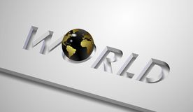 World and earth globe Stock Photo