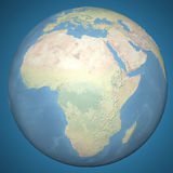 World earth globe Africa Middle East, relief map Royalty Free Stock Photos