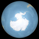 World earth globe Antarctic continent, relief map Royalty Free Stock Photo