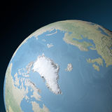 World earth globe arctic, north pole Stock Photography