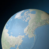 World earth globe arctic, north pole Royalty Free Stock Images