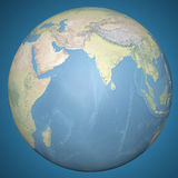 World Earth Globe Asia India, relief map Royalty Free Stock Photos
