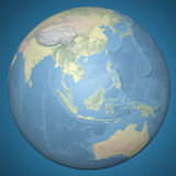 World Earth Globe Asia Indonesia, relief map. Enlargement of the globe of Indonesia Stock Photography