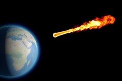 World earth globe explosion meteorite asteroid impact. Threatens Earth, asteroid impact, space Stock Photos