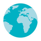 World earth map isolated icon. Stock Photography
