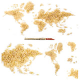 World eats rice Royalty Free Stock Photo