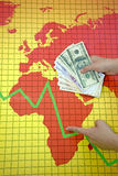 World economic crisis - money in hand Stock Photo