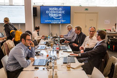 World Economic Forum Annual Meeting 2016 in Davos, Switzerland Royalty Free Stock Images