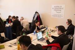 World Economic Forum Annual Meeting 2016 in Davos, Switzerland Royalty Free Stock Photos