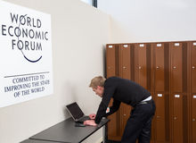 World Economic Forum Annual Meeting 2016 in Davos, Switzerland Stock Photography