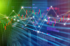World economics graph chart background. Business Finance concept Royalty Free Stock Images