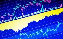 World economics graph. Conceptual view of exchange market stock images