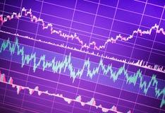 World economics graph. Conceptual view of exchange market, closeup royalty free stock photo