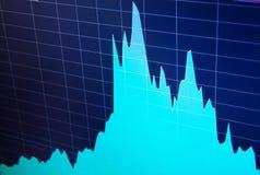 World economics graph. Conceptual view of exchange market. vector illustration
