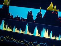 World economics graph. Conceptual view of exchange market. On the monitor stock image
