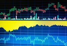 World economics graph. Conceptual view of exchange market. Technical analysis stock image