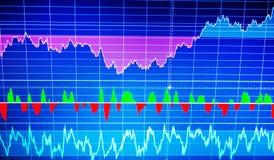 World economics graph. Technical analysis. Conceptual view of ex stock illustration