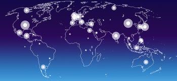 World economies map Stock Photos