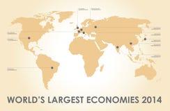 World economy background and figures Royalty Free Stock Images