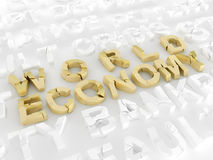 World economy crisis Royalty Free Stock Images