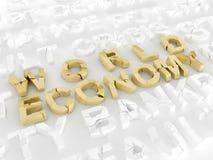 World economy crisis Royalty Free Stock Images