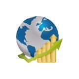 World economy growing Royalty Free Stock Image