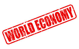 World Economy red stamp text Royalty Free Stock Image