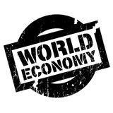 World Economy rubber stamp Royalty Free Stock Images