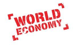 World Economy rubber stamp Stock Photo
