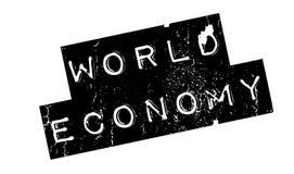 World Economy rubber stamp Royalty Free Stock Photo