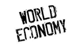 World Economy rubber stamp Royalty Free Stock Photography