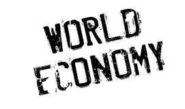 World Economy rubber stamp Royalty Free Stock Image