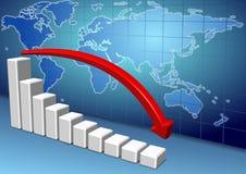 World economy slowing down Stock Photos