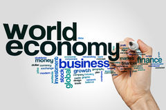 World economy word cloud. Concept Royalty Free Stock Images