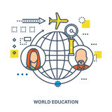 World education - concept vector illustration Royalty Free Stock Photos