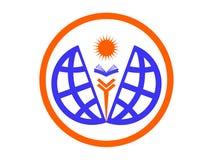 World education icon or logo Royalty Free Stock Image