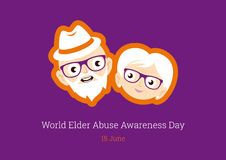 World Elder Abuse Awareness Day vector Royalty Free Stock Photo