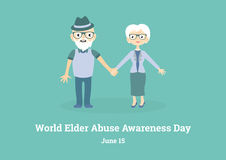 World Elder Abuse Awareness Day vector Royalty Free Stock Images