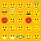 World emoji day greeting card design. Template with different feelings Vector Illustration