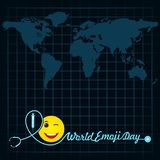 World emoji day greeting card design. Template with different feelings Royalty Free Illustration