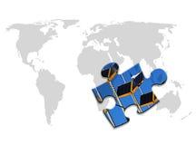 World energy puzzle Royalty Free Stock Images